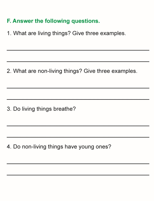 Grade 1 Science Lesson 1 Living and Non-Living Things ...